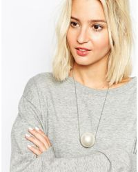 Cheap Monday | Metallic Salt Pearl Choker Necklace | Lyst