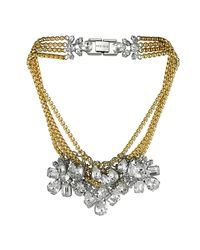 Mews London | Metallic Large Signature Crystal Necklace | Lyst