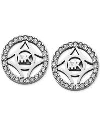Michael Kors | Metallic Clear Open Disk Stud Earrings | Lyst