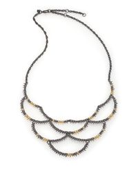 Alexis Bittar | Metallic Elements Muse D'Ore Crystal Spiky Scalloped Bib Necklace | Lyst