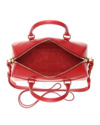Saint Laurent - Red Duffle 3 Mini Leather Bowling Bag - Lyst