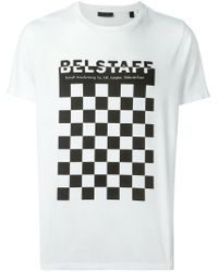 Belstaff | White Check Board Print T-shirt for Men | Lyst