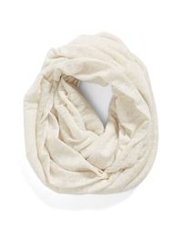 BCBGeneration | White Speckled Knit Infinity Scarf | Lyst