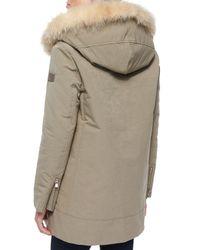 Peuterey - Brown Loftus 2-n-1 Coat W/ Fur-trim-hood & Detachable Liner - Lyst