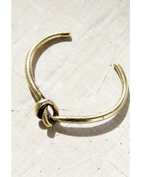 Urban Outfitters | Metallic Knot Cuff Bracelet | Lyst