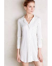 Eberjey | Blue Striped Sleep Shirt | Lyst