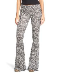 Volcom | Gray 'heavy Petal' Print Leggings | Lyst