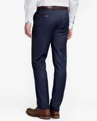 Ted Baker - Blue Wool Suit Pants for Men - Lyst