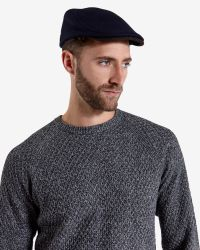 Ted Baker - Blue Wool Herringbone Flat Cap for Men - Lyst