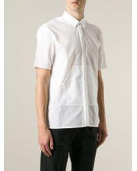 Kris Van Assche - White Kangaroo Pocket Shirt for Men - Lyst