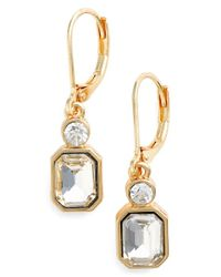Anne Klein | Metallic Lever Back Earrings | Lyst