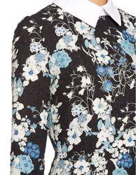 Erdem | Blue Truman Floral-print Matelassé Dress | Lyst