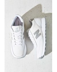 New Balance - Gray Leather Running Sneaker - Lyst