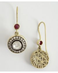Amrapali - Metallic Soul Bazaar Collection Diamond  Ruby Drop Earrings - Lyst