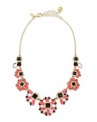 kate spade new york | Pink Space Age Floral Statement Necklace | Lyst