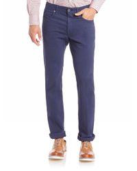 Incotex   Blue Cotton Stretch Casual Pants for Men   Lyst