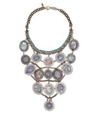 Sveva Collection | Blue Serenata Dreamcatcher Bib Necklace | Lyst
