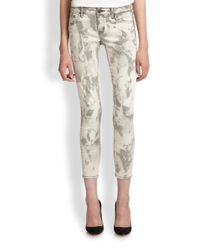 The Kooples - Multicolor Bleach Stain-Print Skinny Ankle Jeans - Lyst