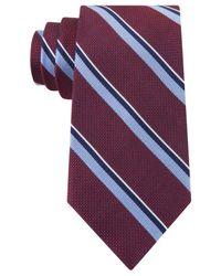 Tommy Hilfiger | Purple Grenadine Stripe Tie for Men | Lyst