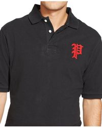 Polo Ralph Lauren | Black Big & Tall Custom-fit Mesh Polo Shirt for Men | Lyst