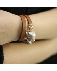 Federica Rettore - Brown Luce Pearl Wrap Bracelet - Lyst