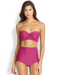 Tori Praver Swimwear - Toledo Macrame Bandeau Bikini Top - Lyst