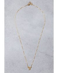 Forever 21 | Metallic Mala By Patty Rodriguez Initial D Necklace | Lyst