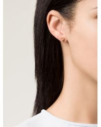 Ileana Makri | Metallic 'pyramid' Diamond Earring | Lyst