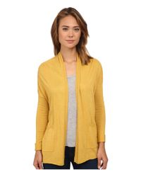 Billabong - Yellow Outside The Lines Cardigan - Lyst