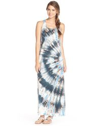 Hard Tail | Blue Racerback Maxi Dress | Lyst