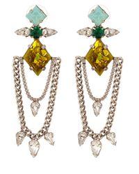 DANNIJO - Green Oxidised Silverplated Nadia Earrings - Lyst
