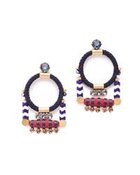 J.Crew | Multicolor Rope Cord Earrings | Lyst