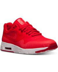 Nike - Red Women'S Air Max 1 Ultra Moire Running Sneakers From Finish Line - Lyst