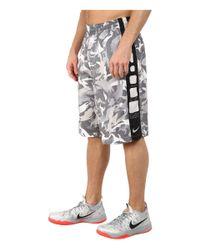 Nike - Gray Elite Stripe Camo Shorts for Men - Lyst