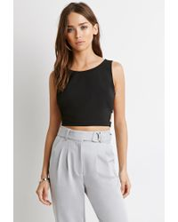 7ff3ec306b1 Forever 21. Women's Black Caged Side Crop Top You've Been Added To The  Waitlist