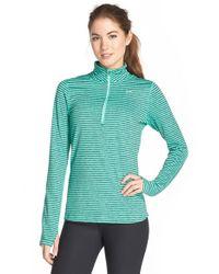 Nike - Green 'element Stripe' Half Zip Running Top - Lyst