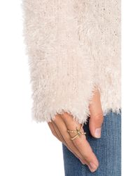 525 America - Pink Feather Yarn Funnel Neck Tunic - Lyst