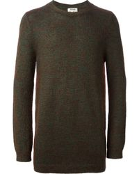 Acne Studios | Green 'Costa O' Sweater for Men | Lyst
