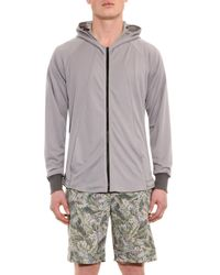 Christopher Raeburn - Gray Jersey Mesh Hooded Jacket for Men - Lyst