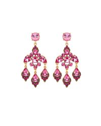 Oscar de la Renta | Purple Magenta Swarovski Crystal Chandelier Earrings | Lyst
