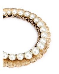 Anabela Chan - Metallic 'delphin' 14k Gold Resin Pearl Collar Necklace - Lyst