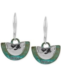 Robert Lee Morris | Green Silver-tone Patina Drop Earrings | Lyst
