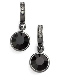 Givenchy | Black Jeweled Drop Earrings - Hematite/ Jet | Lyst