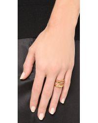Madewell | Metallic Triple Threat Ring - Vintage Gold | Lyst