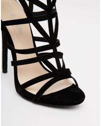 Public Desire - Black Pk Caged Gladiator Heeled Sandals - Lyst