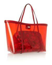 Dolce & Gabbana | Red Escape Leathertrimmed Pvc Tote | Lyst