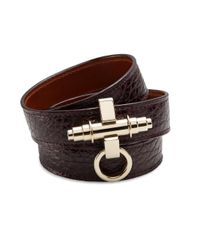 Givenchy | Purple Obsedia Three-Row Leather Wrap Bracelet | Lyst