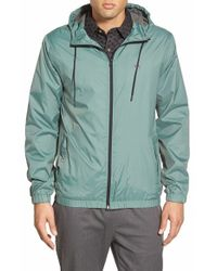 Volcom | Green 'ermont' Hooded Nylon Jacket for Men | Lyst