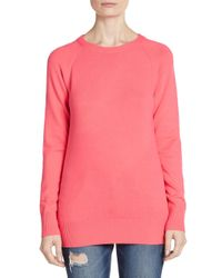 French Connection | Pink Raglan Sweater | Lyst