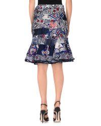 Sacai - Blue Knee Length Skirt - Lyst